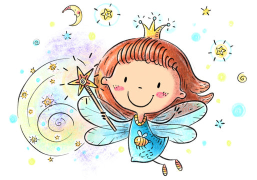 Fairy Cartoon Stock Photos And Royalty Free Images Vectors And Illustrations Adobe Stock
