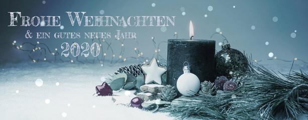 Photo sur Aluminium Pays d Afrique Weihnachtskarte 2020 - Weihnachten Hintergrund Banner - Frohe Weihnachten & ein gutes neues Jahr 2020