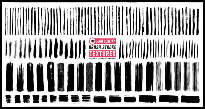 Brush Stroke Textures. 140 High Quality, Detailed Textures
