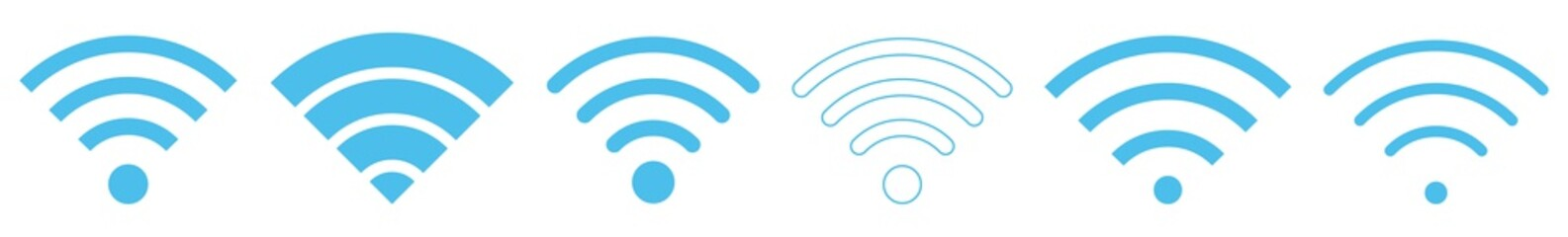 Wireless Blue | Internet Connection | Signal Icon | Variations Fototapete