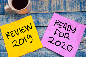 Photo sur Plexiglas Positive Typography 2019 Review, Preparing 2020