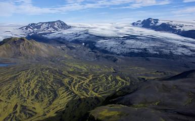 Ice and volcanic field junction, Vatnajökull