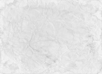 Wall Mural - old white paper background with wrinkled creased distressed texture in old worn paper template that is blank