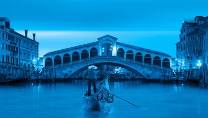 Deurstickers Gondolas Gondola near Rialto Bridge in Venice, Italy