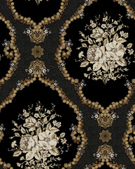 Decorative elegant luxury design.Vintage elements in baroque, rococo style.Design for cover, fabric, textile, wrapping paper . - 310116970