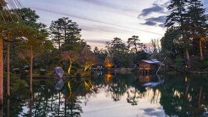 Wall Mural - Timelapse at Kenrokuen garden in Kanazawa, Ishikawa Prefecture, Japan