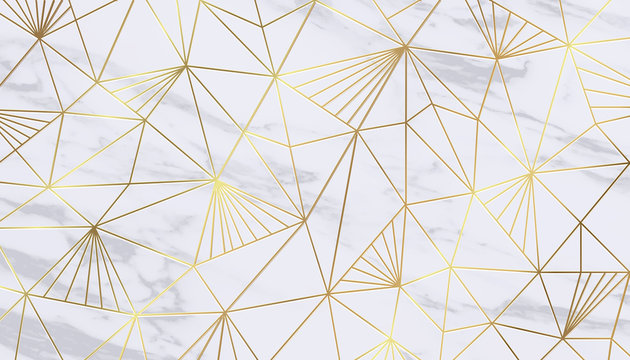 Luxury gold marble texture background vector
