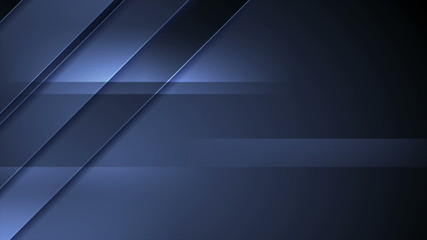 Fotobehang - Dark blue corporate abstract tech background