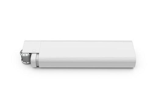 Blank lighter for design presentation, mock up template on isolated white background, 3d illustration.