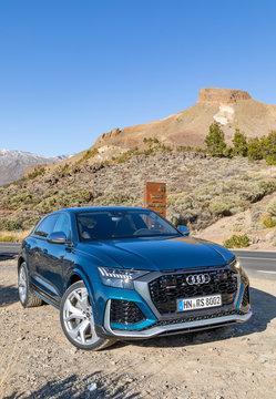 Audi RS Q8 in Tenerife, Spain, December 6, 2019