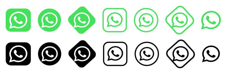 whatsapp logo.whatsapp  button. whatsapp  vector editorial