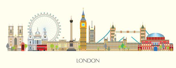 London skyline vector 7 Fototapete