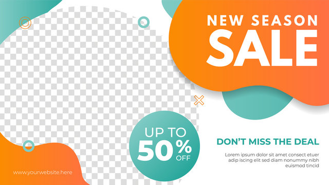 New season sale banner template. Promotion banner for website, flyer and poster