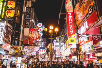 Osaka, Japan - november 5, 2019: Dotonbori the famous place in Dotonbori Osaka, Japan Travel Concept