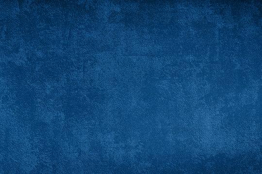Grunge blue texture background, classic blue color 2020