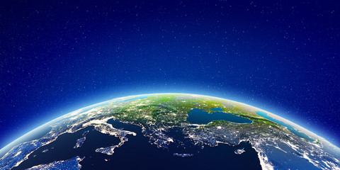 Wall Mural - Europe from space