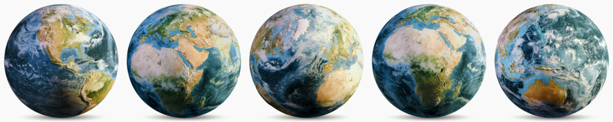 Wall Mural - Planet Earth climate globe set