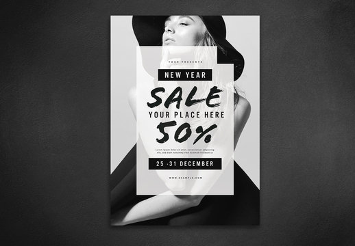 New Year Sale Flyer Layout