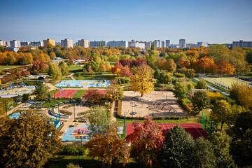 Park Bródnowski w kolorach jesieni