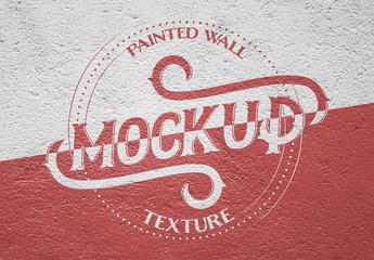 Painted Wall Texture Mockup