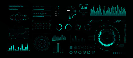Futuristic cyberpunk hud interface. Vector cyber screen with technology graphics display, gaming panel future hologram ui infographic. Modern dashboard design template
