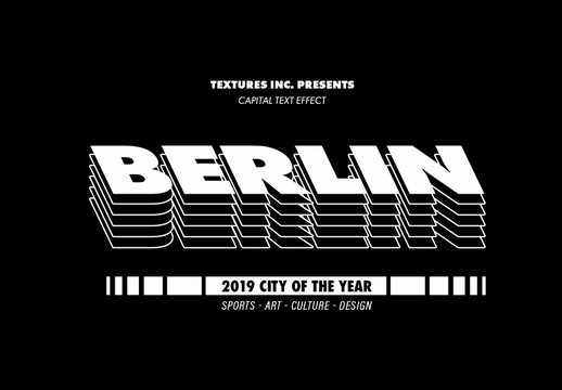 Creative Capitol City Text Effect