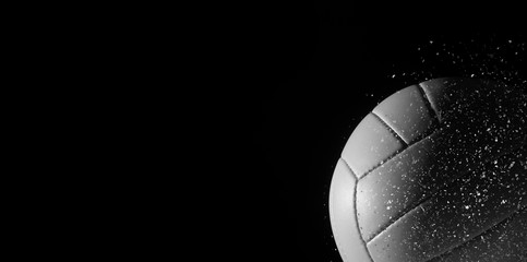 Closeup detail of volleyball ball texture background.