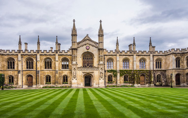 Courtyard of the Corpus Christi College, Is one of the ancient colleges in the University of Cambridge