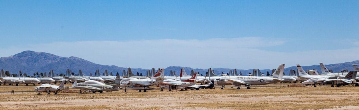 Davis-Monthan Air Force Base AMARG boneyard in Tucson, Arizona