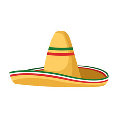 Isolated mexican hat vector design