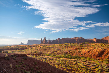 Foto op Aluminium Monument Valley on the border between Arizona and Utah in USA