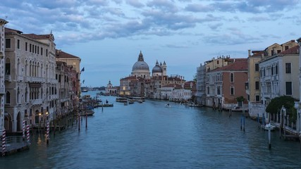 Wall Mural - Twilight skyline at Venice city in Italy