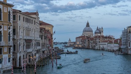 Wall Mural - Time lapse video of Venice skyline in Italy