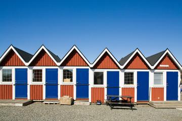 Small huts on beach
