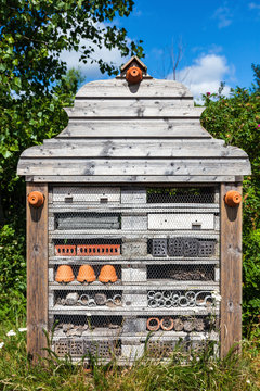 Insect hotel in park