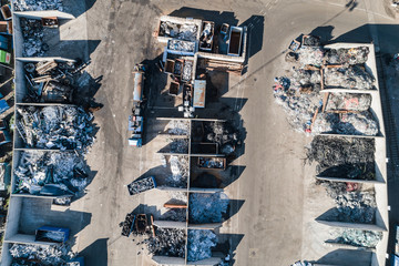 Aerial view of recycling station