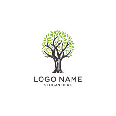 tree logo design inspiration, vector eps 10