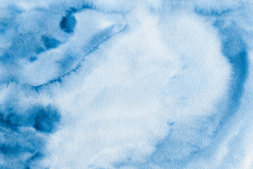 Printed roller blinds Fantasy Landscape Abstract blue watercolor background, watercolor texture