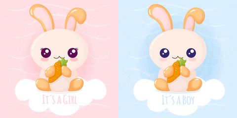Cute rabbit it´s a girl it´s a boy