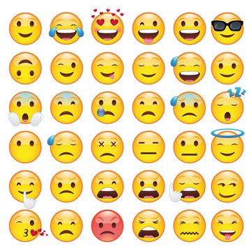 Set of Emoticons. Set of Emoji.