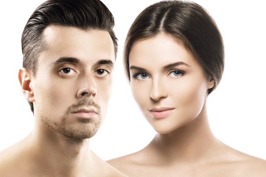 Man and woman with perfect skin