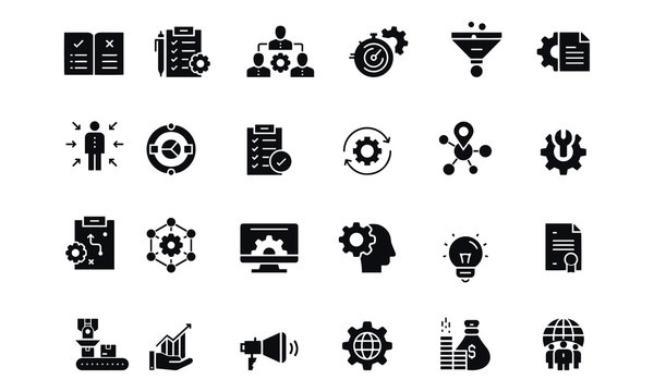Product Management Related Vector Icons