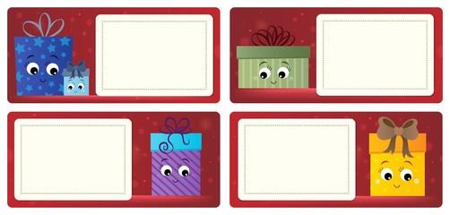 Deurstickers Voor kinderen Stylized Christmas theme cards 5