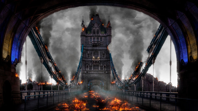 Tower Bridge London Burning