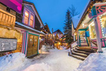 Fototapete - Breckenridge, Colorado, USA Downtown in Winter