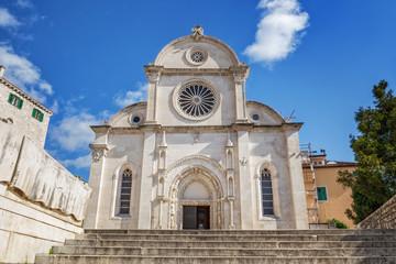 The Cathedral of St. James (Croatian: Katedrala sv. Jakova) in Sibenik, Croatia