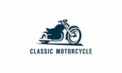 silhouette of motorcycle on white background