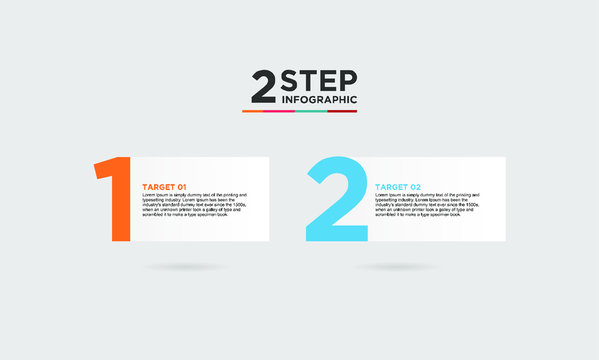 2 step infographic element. Business concept with 2 options, steps or processes. data visualization. Vector illustration.