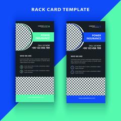 Dl rack card vector design template