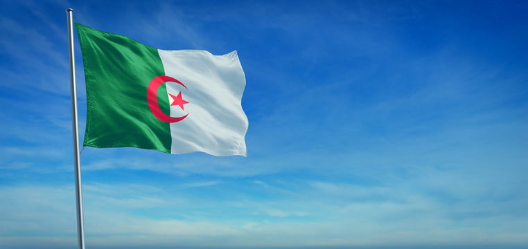 The National flag of Algeria